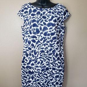 Alyx Ikat Print Cap Sleeve Pieced Dress-Size 14